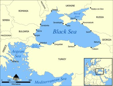 BLACK SEA AND OIL FIELDS NEAR                       IT 100% landlocked