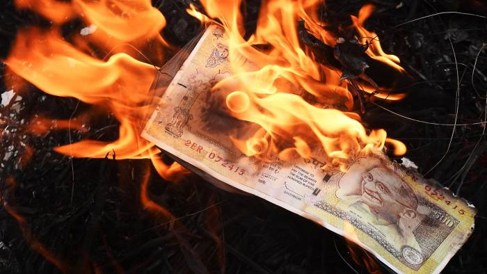 INDIA made all money illegal, savers lost                         millions; they had to burn the money in india