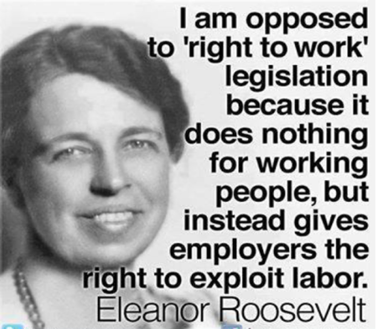 eleanor roosevelt pro-union quote