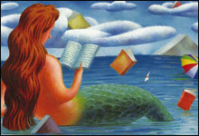 even mermaids read when they                         consult the LIST OF THE GREATEST BOOKS EVER                         WRITTEN