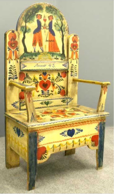 Peter Hunt Design,tyrolean they call it--a SWISS                   THRONE