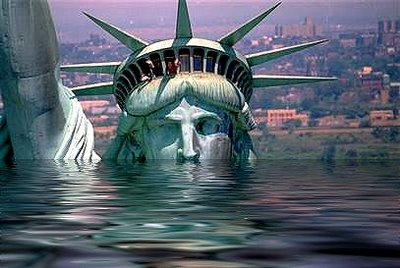 AMERICA went UNDERWATER because of ENRON,                           and GEORGE W. BUSH and his father LET THAT                           HAPPEN, SEE THE MELTDOWN ARTICLE here
